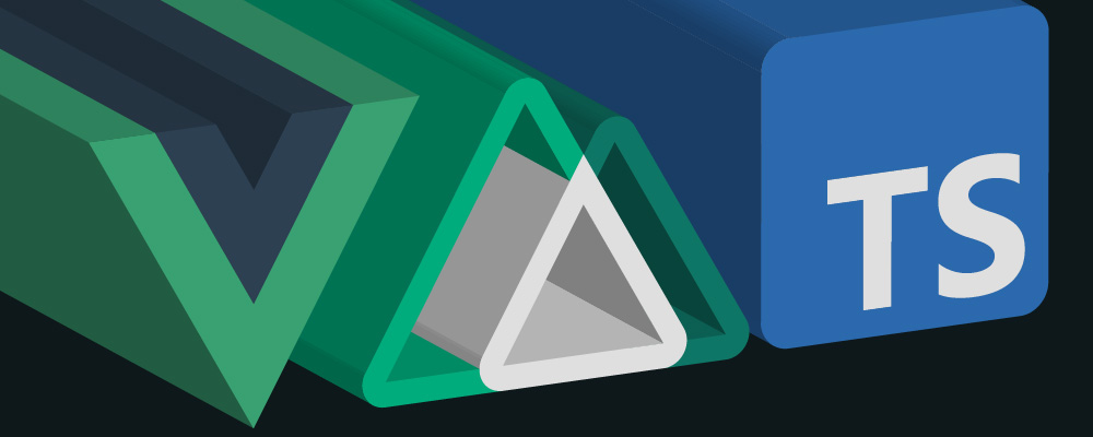 The logos for Vue, Nuxt and TypeScript with a 3D extrusion effect